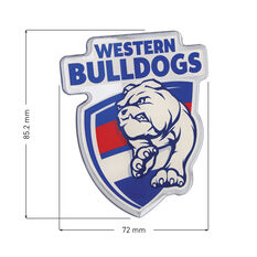 Western Bulldogs AFL Supporter Logo - Lensed Chrome Finish, , scaau_hi-res
