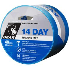 Blue 14 Day Masking Tape - 48mm x 50m, , scaau_hi-res