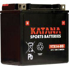 Powersports Battery -  YTX14-BS, , scaau_hi-res