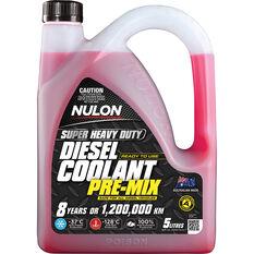 Nulon Heavy Duty Diesel Coolant Premix 5 Litre, , scaau_hi-res