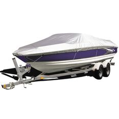 CoverALL Boat Cover Silver Protection - Water Resistant, Suits 14 - 16ft Boats, , scaau_hi-res