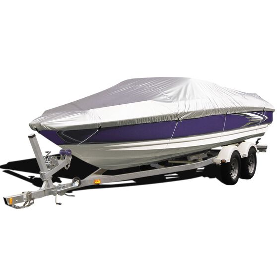CoverALL Boat Cover Silver Protection - Water Resistant, Suits 16 - 18ft Boats, , scaau_hi-res