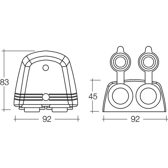 12V Accessory Socket - Surface Mount, Twin, , scaau_hi-res