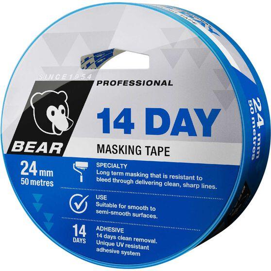 Norton 14 Day Masking Tape - Blue, 24mm x 50m, , scaau_hi-res