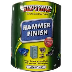 Septone Paint Hammer Finish - Metallic Blue, 4 Litre, , scaau_hi-res