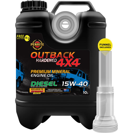 Penrite Outback Hardened 4x4 Diesel Engine Oil 15W-40 10 Litre, , scaau_hi-res