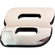 SCA 3D Chrome Badge Number 8, , scaau_hi-res