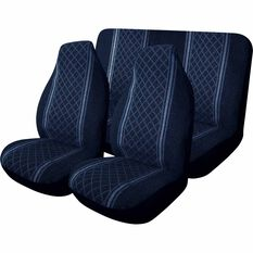 Escort Seat Cover Pack - Blue, Built-in Headrests, Size 60 & 06, Front Pair & Rear, , scaau_hi-res