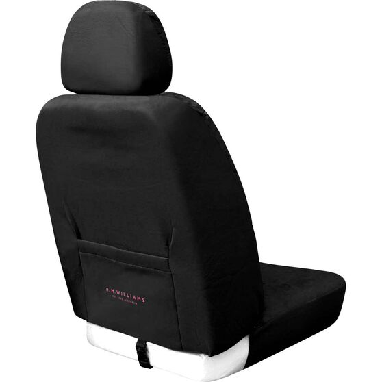 R.M.Williams Black/Pink Jillaroo Suede Velour Front Seat Covers Size 30, , scaau_hi-res