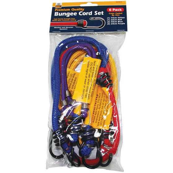 Bungee Cord, Metal Hook - 6 Pack, , scaau_hi-res