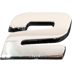SCA 3D Chrome Badge Number 2, , scaau_hi-res