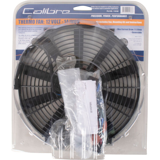 Calibre Thermo Fan - 12 Volt, 14 inch, , scaau_hi-res