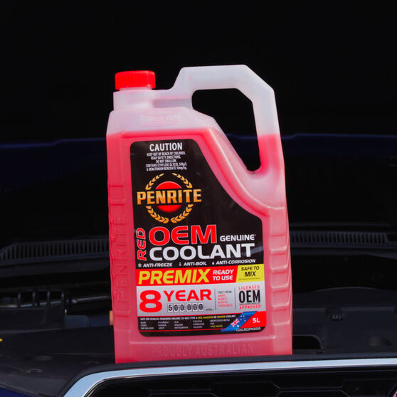 Penrite Red OEM Coolant Premix  5 Litre, , scaau_hi-res