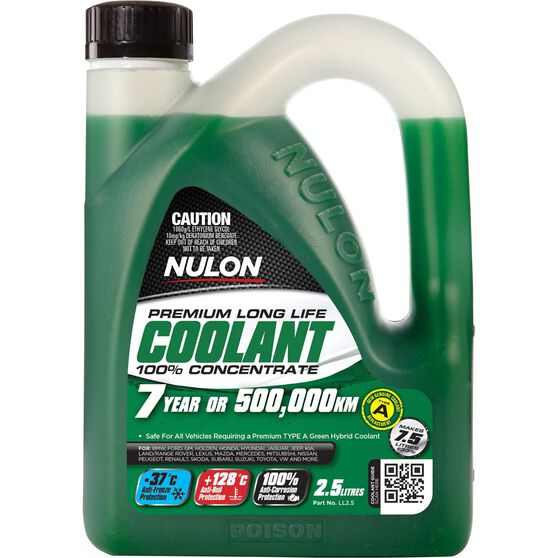 Nulon Long Life Anti-Freeze / Anti-Boil Concentrate Coolant - 2.5 Litre, , scaau_hi-res