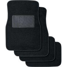 SCA Car Floor Mats - Carpet, Black, Set of 4, , scaau_hi-res