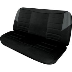 Seat Covers - Black & Grey, Size 12, Front Bench, , scaau_hi-res