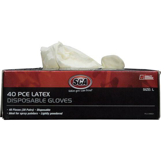 SCA Work Gloves - Latex, Large, 40 Pack, , scaau_hi-res