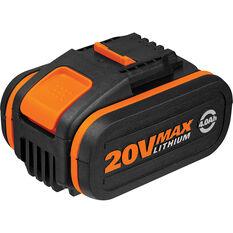 Worx Battery Pack - 4.0Ah, 20V Li-ion, , scaau_hi-res