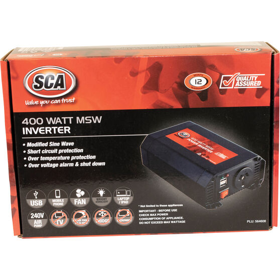 SCA Modified Sine Wave Power Inverter 400W, , scaau_hi-res
