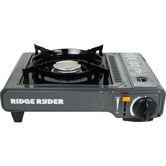 Ridge Ryder Butane Stove Single Burner Dual Safety Cut Off, , scaau_hi-res
