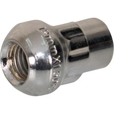 Calibre Wheel Nuts, Tapered Lock, Chrome - SLN12150, 12mm x 1.5mm, , scaau_hi-res