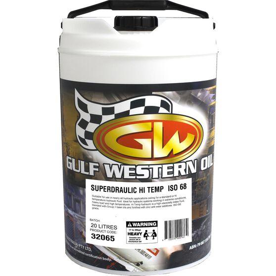 Gulf Western Hi Temp Superdraulic Hydraulic Oil ISO 68 20 Litre, , scaau_hi-res