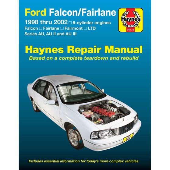 Haynes Car Manual For Ford Falcon / Fairlane 1998-2002 - 36733, , scaau_hi-res