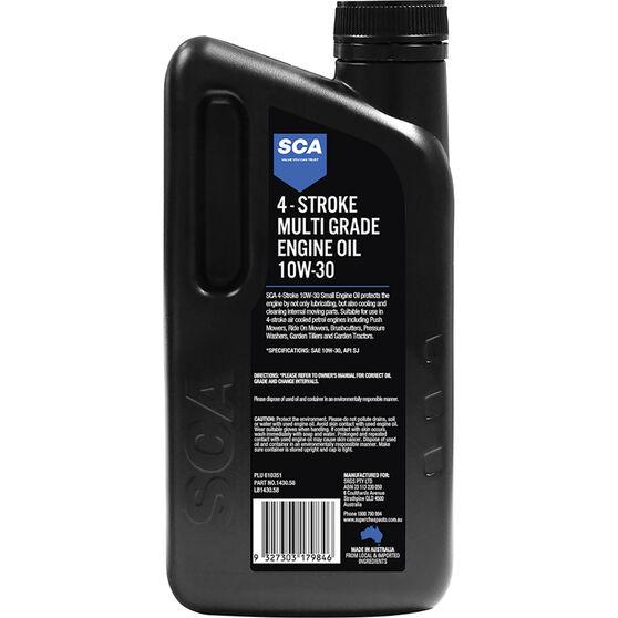 SCA Multi-Grade Small Engine Oil 4 Stroke 10W-30 1 Litre, , scaau_hi-res