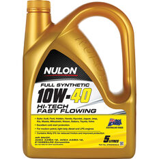 Nulon Full Synthetic Hi-Tech Fast Flowing Engine Oil 10W-40 5 Litre, , scaau_hi-res