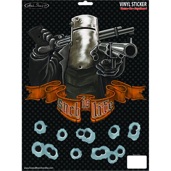 Hot Stuff Sticker - Ned Kelly Such Is Life, Large, Vinyl, , scaau_hi-res