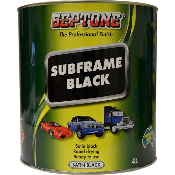 Septone Subframe Paint - Satin Black, 4 Litre, , scaau_hi-res