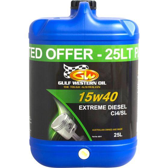 Gulf Western Extreme Diesel Engine Oil - 15W-40 25 Litre, , scaau_hi-res