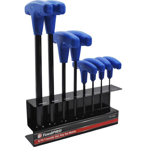 ToolPRO 8 Piece Metric T-Handle Hex Key Set, , scaau_hi-res