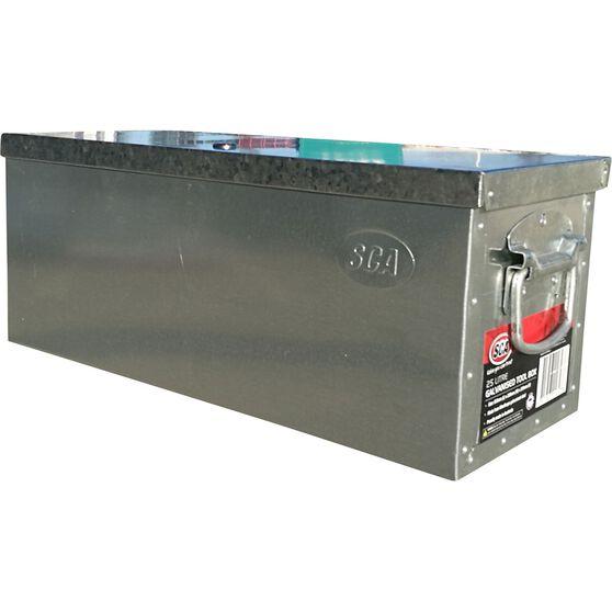 SCA Galvanised Tool Box 25 Litre, , scaau_hi-res
