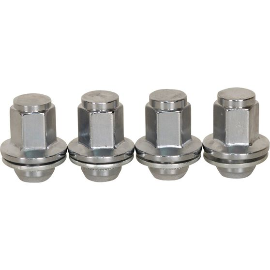 Calibre Wheel Nuts, Shank, Chrome, For Toyota Landcruiser - 5 Stud, MN14150LC, 14mm x 1.5mm, , scaau_hi-res