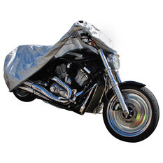 CoverALL Motorcycle Cover Silver ProtectionWater Resistant - Large, Suits 1000-1500cc, , scaau_hi-res