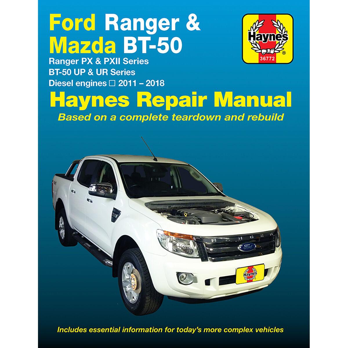 haynes car manual for ford ranger mazda bt 50 2011 2017 36772 rh supercheapauto com au
