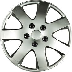 Wheel Covers - Compass, 14, Silver, 4 Piece, , scaau_hi-res