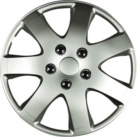 Best Buy Wheel Covers - Compass, 14 inch, Silver, 4 Piece, , scaau_hi-res