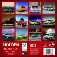 Calendar Holden Classic Cars Mini 2021, , scaau_hi-res