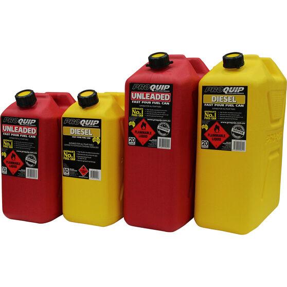Pro Quip 10L Fuel Plastic Jerry Can, , scaau_hi-res