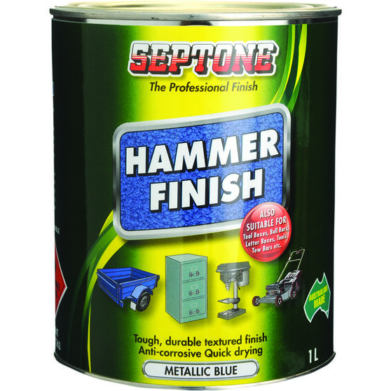 Septone Paint Hammer Finish - Metallic Blue, 1 Litre, , scaau_hi-res