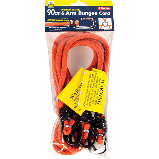 Gripwell Metal Hook Bungee Cord - 90cm, 2 Pack, , scaau_hi-res