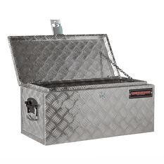 Tool Box - Aluminium Checkerplate, 48 Litre, , scaau_hi-res