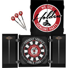 Official Licensed Holden Dartboard and Cabinet Set, , scaau_hi-res