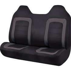 SCA Oxford Ute Seat Covers - Black, Size 90, Front Bench (with built-in headrests), , scaau_hi-res