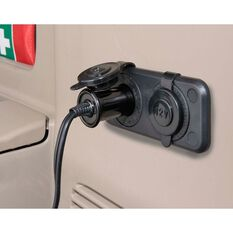 Narva 12V Accessory Socket - Twin, Black, , scaau_hi-res