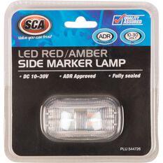 SCA Side Marker - LED, Red / Amber, 10-30V, , scaau_hi-res