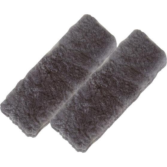 SCA Seat Belt Buddies - Sheepskin, Charcoal, Pair, , scaau_hi-res