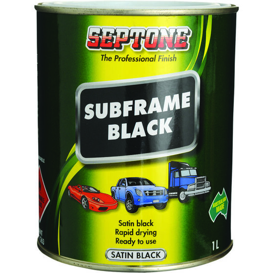 Septone Subframe Paint - Satin Black, 1 Litre, , scaau_hi-res